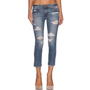 Joe's Gessa distressed slim crop jeans
